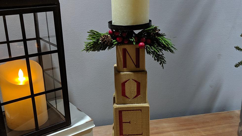 Wooden Noel Candle Holder