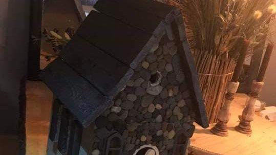Rock Birdhouse