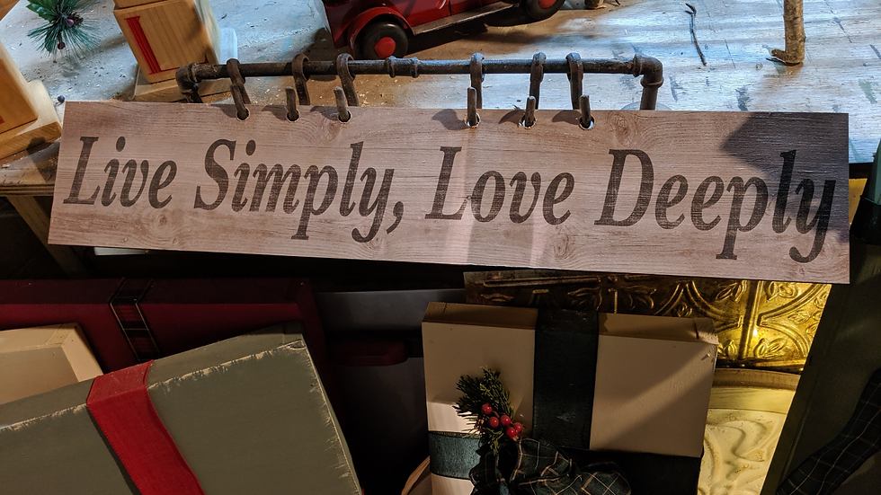 Custom Wooden Sign with Metal Pipe Holder