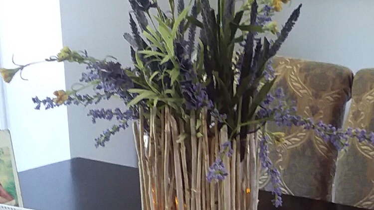 Beaver sticks floral arrangement