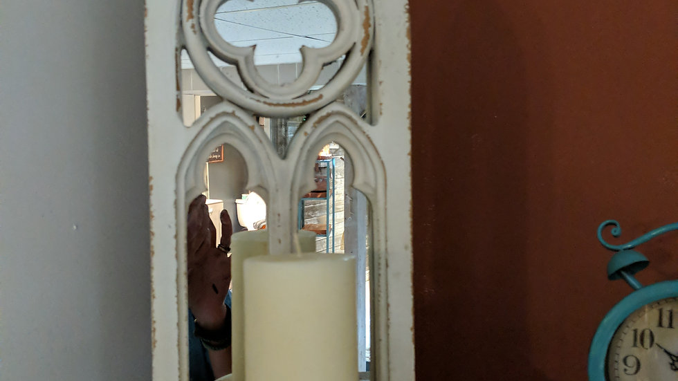 Wood/Mirror Candle Holder