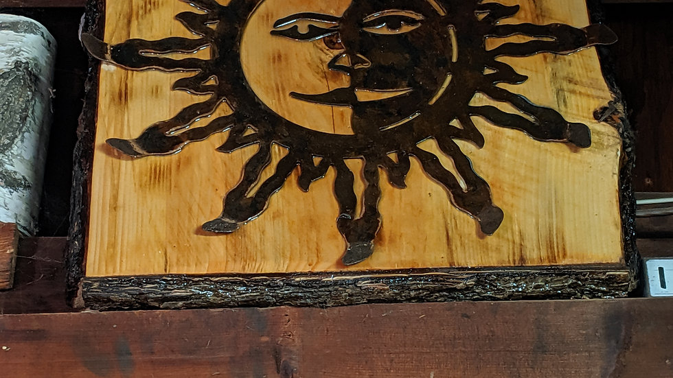 Wooden Sunburst wall hanging