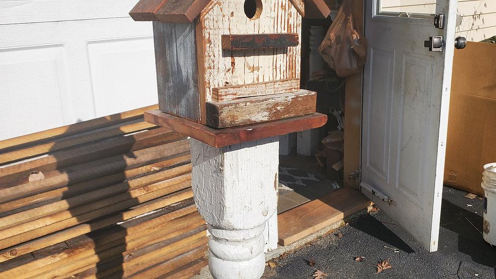 White Barnwood Birdhouse