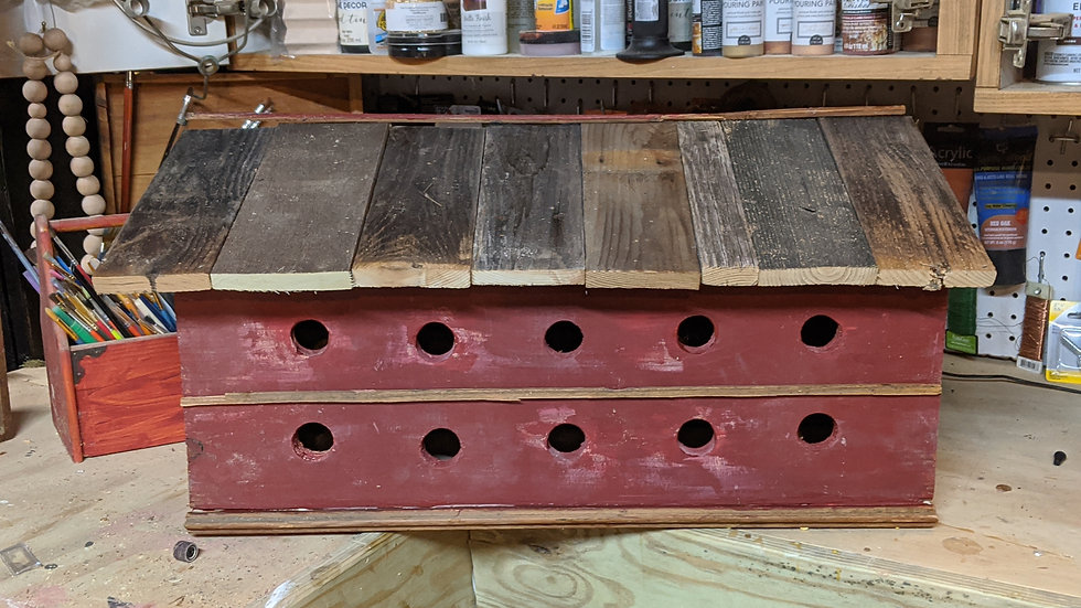 Red Barnwood Birdhouse