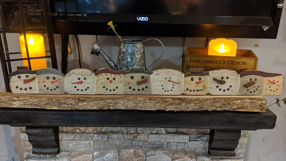 Wood Snowman Decoration