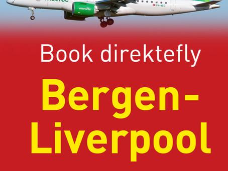 Book direktefly Bergen-Liverpool med oss.