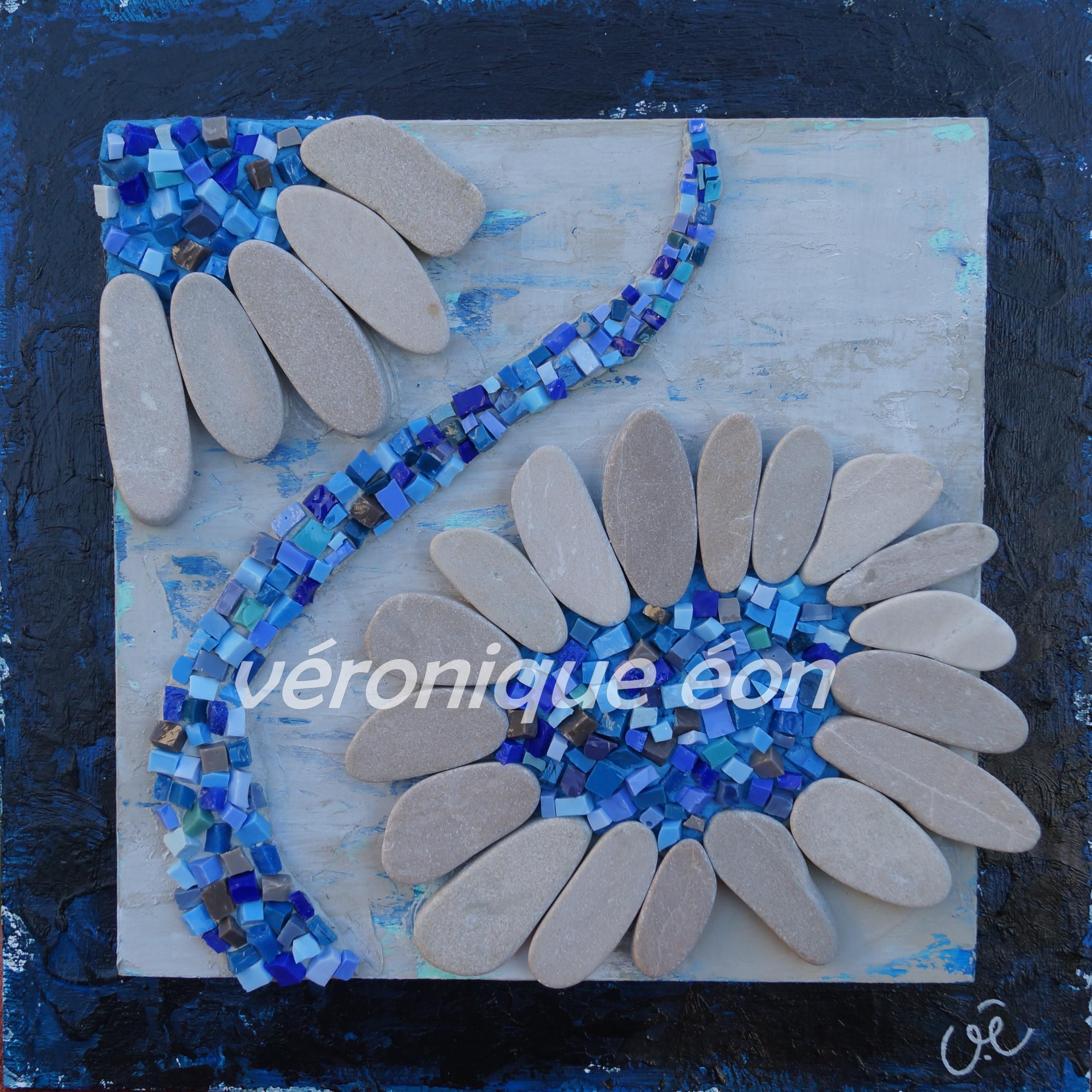 Carré Fleur Bleue