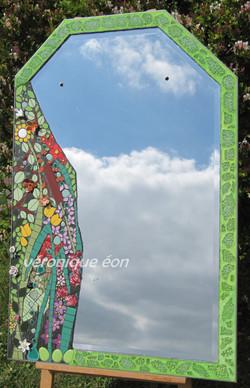 Miroir Mosaïque Fleuri