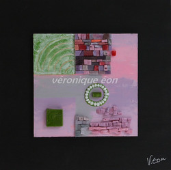 Carré Rose & Vert