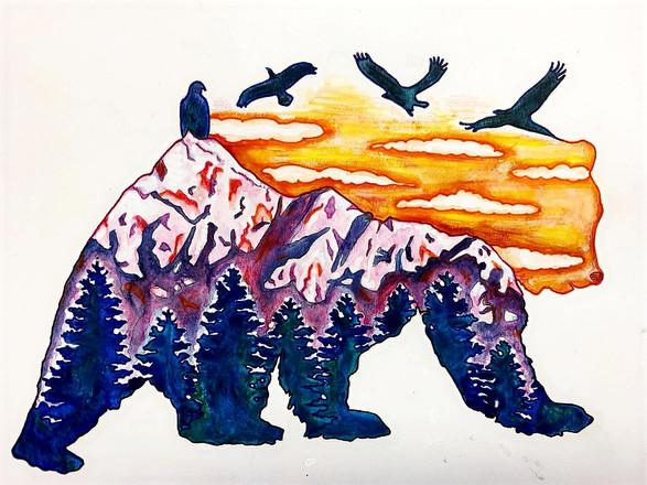 Watercolor pencil on paper