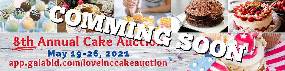 Coming Soon Cake Auction Gala Bid banner
