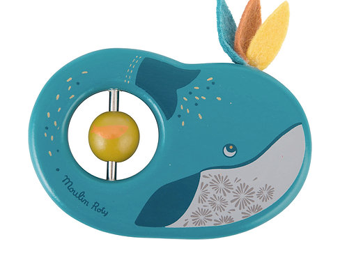Joséphine the Whale Wooden Rattle
