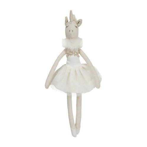 Unicorn in White Dress