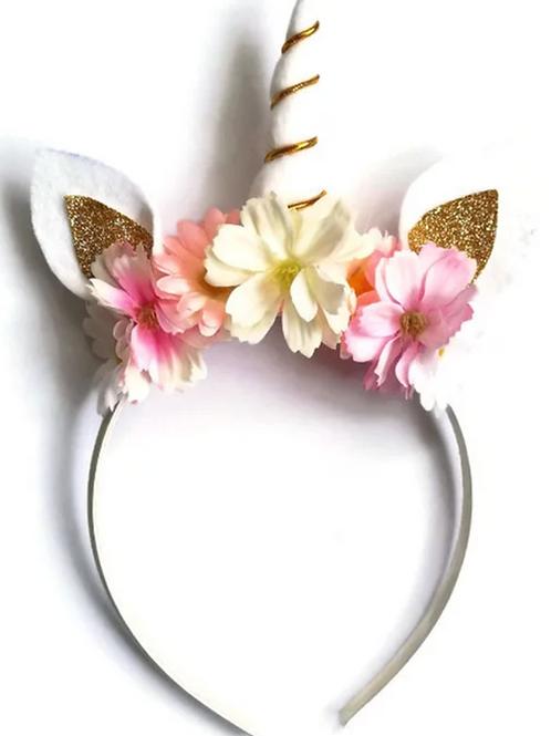Pink & Gold Unicorn Horn Headband