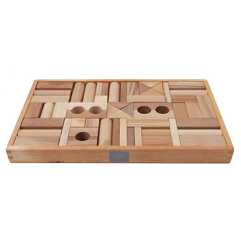 Natural Blocks in Tray - 54 PCS