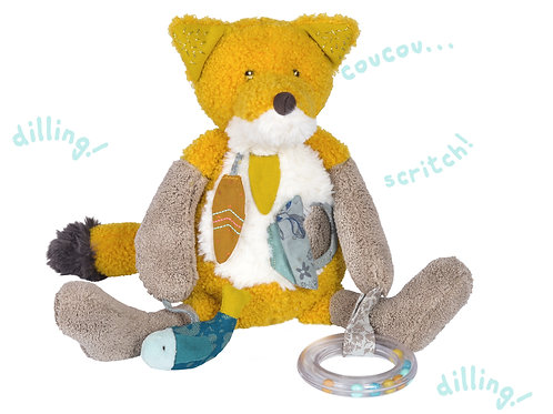 Chaussette the fox activity toy