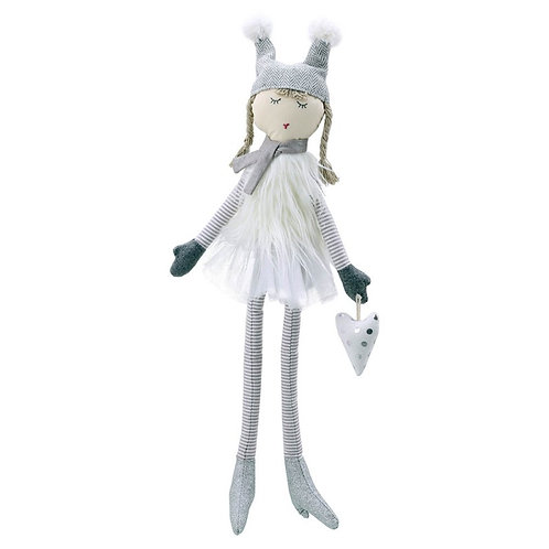 Large Doll in White Dress