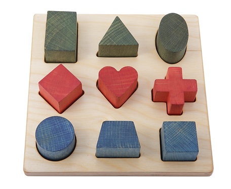 Rainbow Shape Puzzle Board
