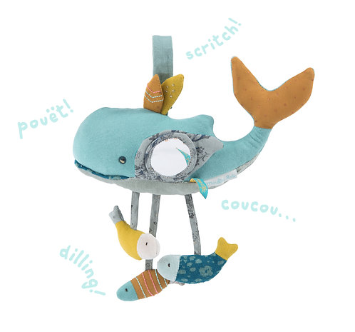 Joséphine the whale activity toy