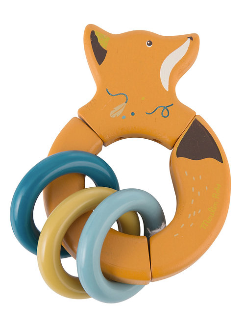 Fox Wooden Rattle