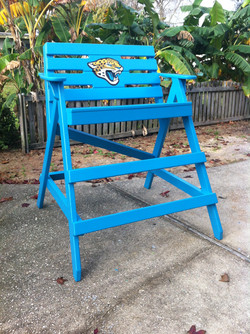 Jag chair, hand painted logo