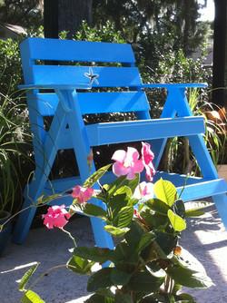 Starfish chair poolside