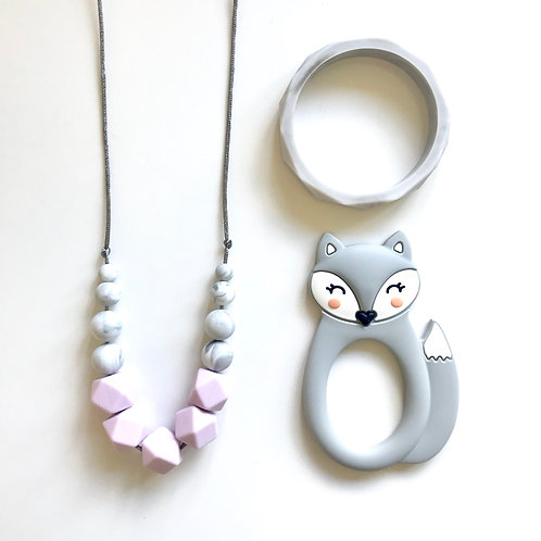 Freya Gift Set including Bear or Fox Teether