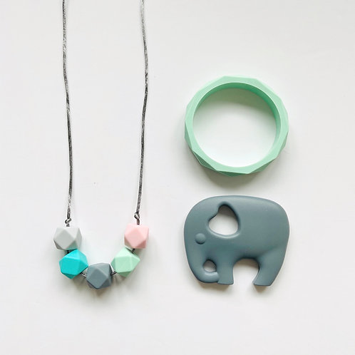 5 Hex Gift Set Incl Elephant/Owl Teether