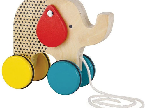 Jumping Jumbo Wooden Pull Toy