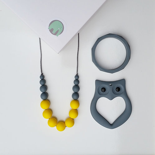 Betty Gift Set including Elephant or Owl Teether