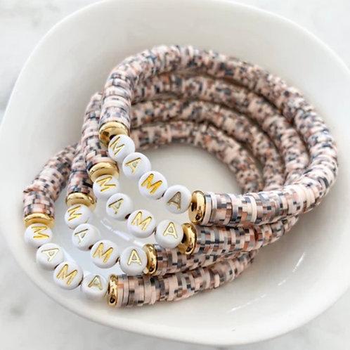 MAMA Heishi Bracelet - Toasted Coconut