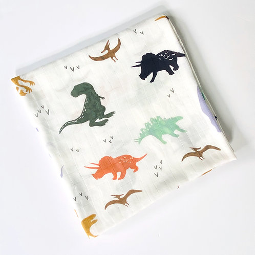 Dinosaur Print Muslin