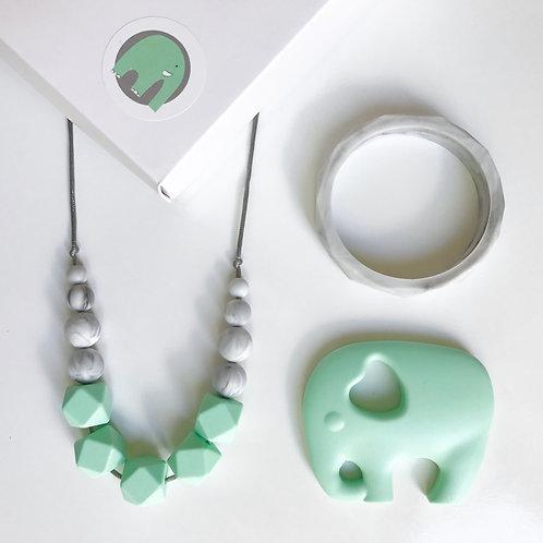 Freya Gift Set including Elephant or Owl Teether