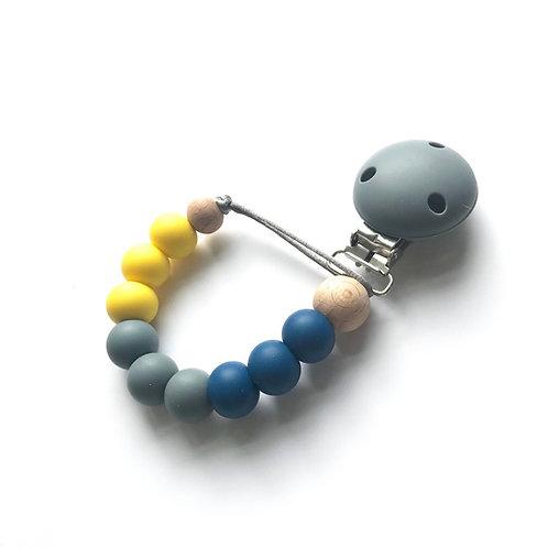 Dummy Clip - Denim, Grey & Yellow