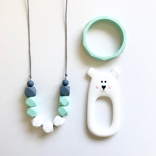 Amy Gift Set including Bear or Fox Teether