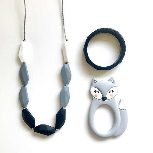Emma Gift Set including Bear or Fox Teether