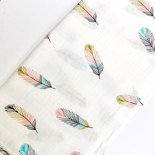 Feather Print Muslin