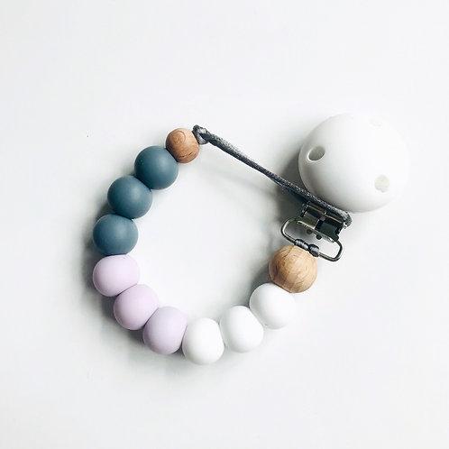 Dummy Clip - White, Lilac & Grey