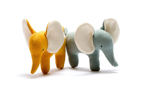 Small Organic Cotton Elephant Toy