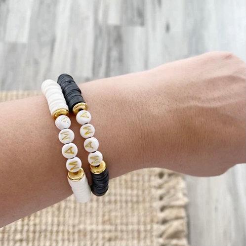 MAMA Heishi Bracelet - Black or White
