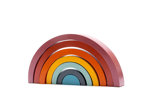 Wooden Rainbow Stacker - Contemporary Colours