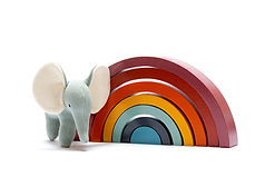 Contemporary rainbow with elephant.jpg