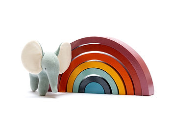 Contemporary rainbow with elephant.jpg