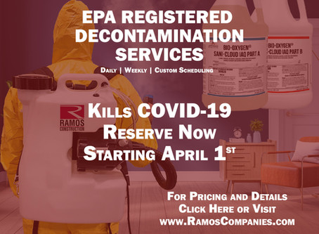 Tampa Builder Provides Fogging Service to Eliminate COVID-19 Pathogens within 1 Minute of Contact