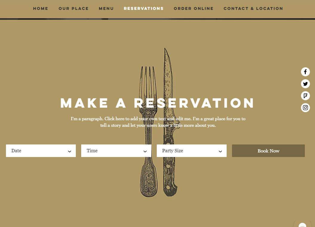 Restaurant Resevations