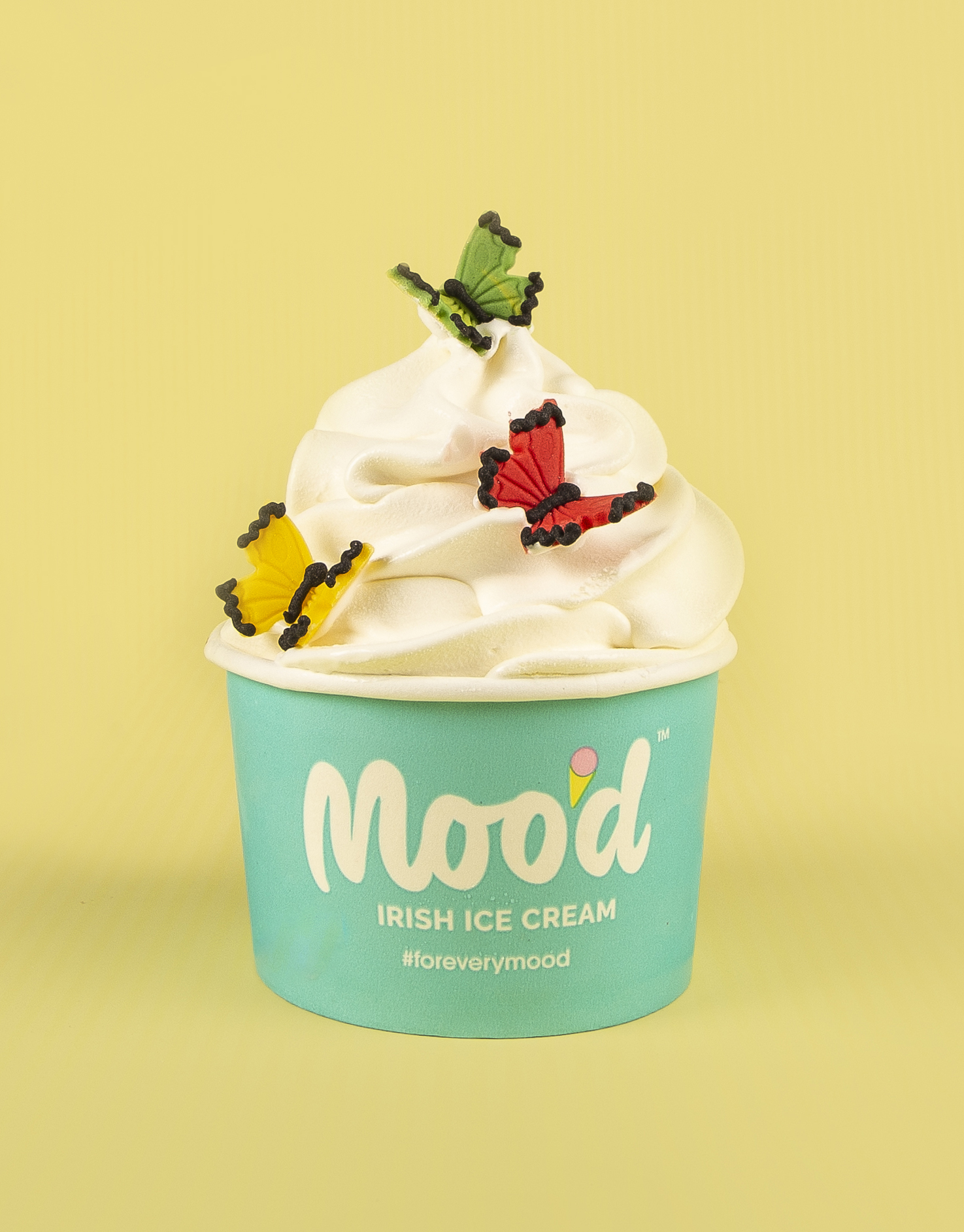 icecream tub with butterflies