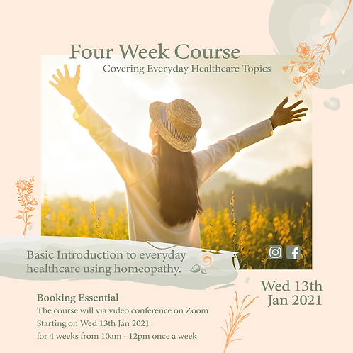 Homeopathy Four Week Course