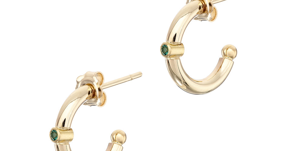 Ring of Kerry 9ct Gold Emerald Earrings