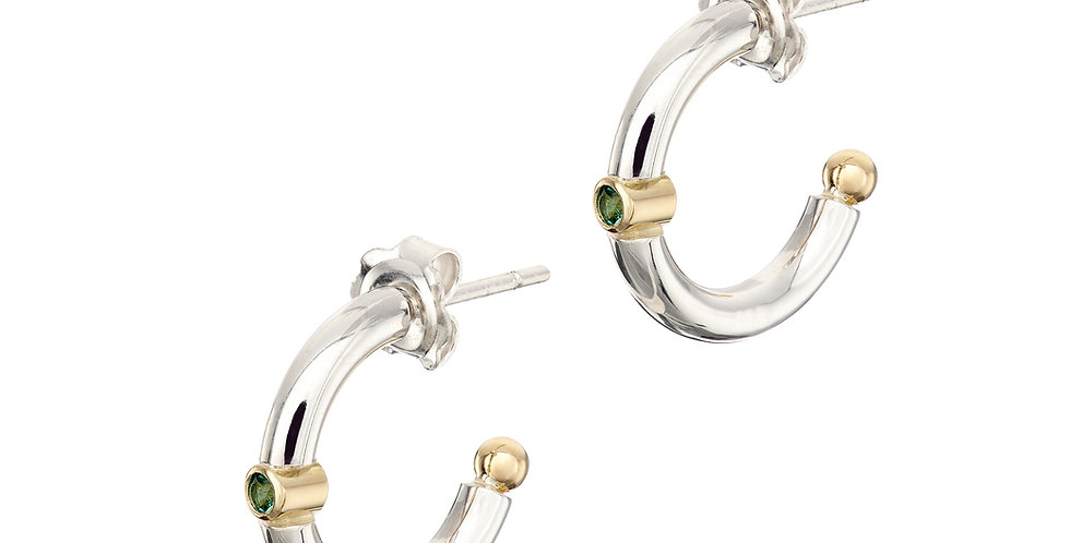 Ring of Kerry Silver Emerald Earrings