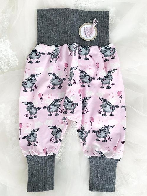 Pant Size 80/86 (12-24 m) Gray Pink Donkey